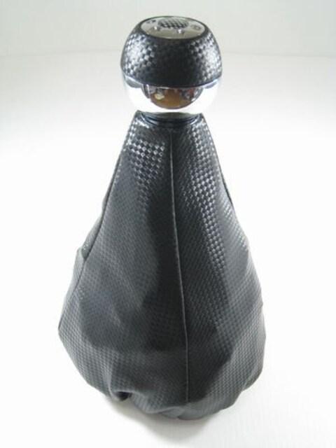 ★ドレスアップ★汎用カーボン調シフトブーツとシフトノブセット < 自動車/バイク