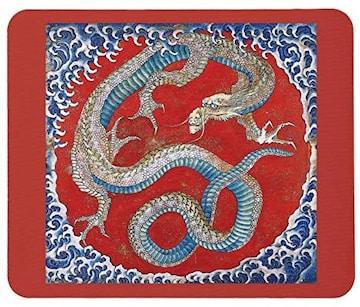北斎、信州小布施 東町祭屋台天井絵『龍図』のマウスパッド D