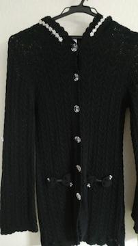 花レース&リボン付かぎ編みパーカー◆2way大きいサイズ◆セット割有即決