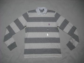 ow177 女 RALPH LAUREN ラルフローレン ラガーシャツ Lサイズ