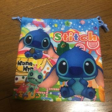 即決 Disney ディズニー stitch スティッチ 巾着袋