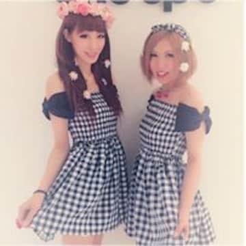 ワンスポ★未使用!ギンガム袖リボンワンピ/黒
