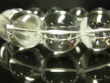 大玉20ミリ数珠パワーストーン 本水晶クリスタルブレスレット 運気アップ