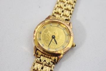 ELGIN☆エルジン ダイヤモンド、K24付き レディース腕時計
