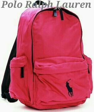 【Polo Ralph Lauren】ラルフローレン Backpack ビッグポニー L/Pink