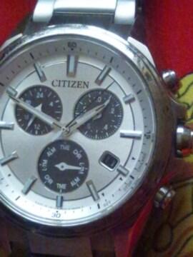 シチズンエコドライブソーラー腕時計クロノグラフチタンフルメタル日本製