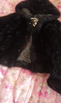 ヴァンキッシュフワフワモコモコのファーコートジャケット未使用タグ付き美品