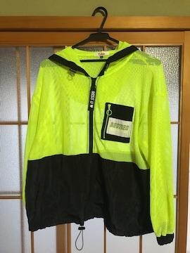 美品 ピンクラテ メッシュ切替ブルゾン パーカー キッズ M 165
