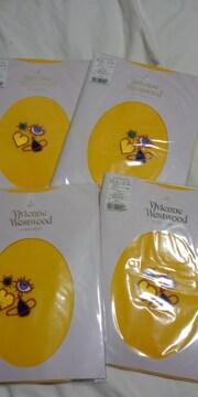 新品ヴィヴィアンウエストウッド 黄色刺繍入りタイツ8800円 レタパライト込み