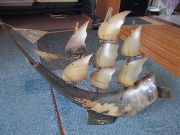水牛   角帆 船 置物