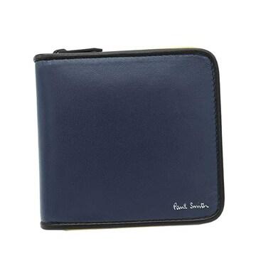 ◆新品本物◆ポールスミス 2つ折財布(BL)『M1A6103 A40643』◆