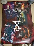 X JAPAN 特大ポスター  60cm×83cm YOSHIKI hide ToshI HEATH