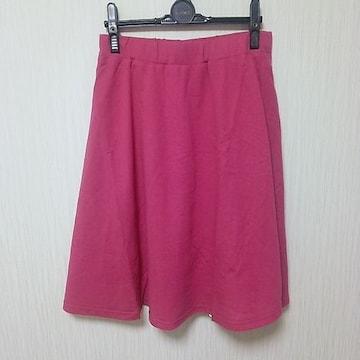 ラスト 新品 シンプルきれい スカート うす赤系 M