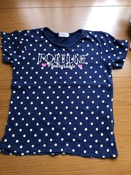紺 ドット 半袖Tシャツ130