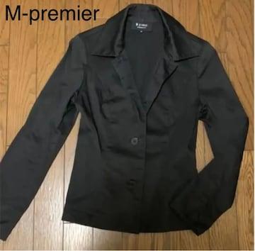 エムプルミエ 黒の薄手 シャツ型ジャケット