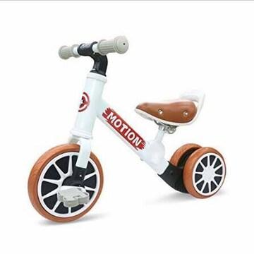 色白 キッズバイク ペダルなし自転車 子ども用自転車 キックバイ