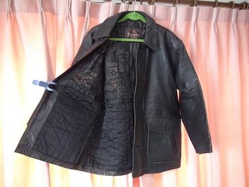 LOLDHNTHONYの羊の革のハーフコート(LL)黒