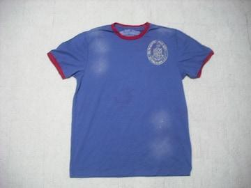 74 男 ラルフローレン 青 半袖Tシャツ M
