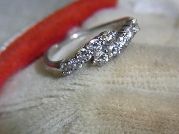 うるうる・キランキランのPT900・ダイヤモンドリング・0.50ct