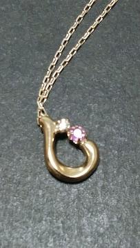 BLOOM★K10雫型のネックレス★ダイヤモンド&トルマリン