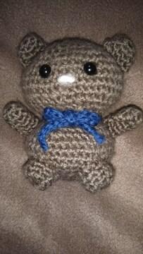手編みのあみぐるみ、茶クマ
