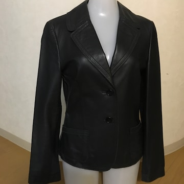 DKNY ジャケット 羊革 ネイビー サイズ4(日本サイズ9号)