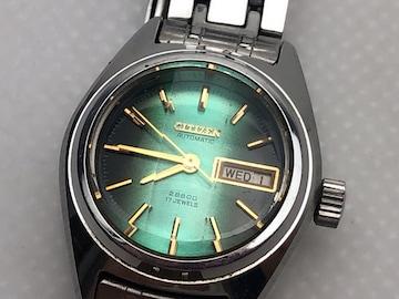 T097 シチズン 腕時計 自動巻 オートマチック グリーン文字盤