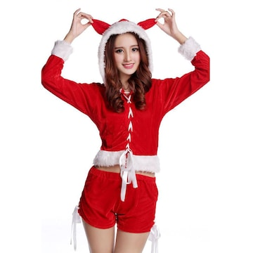 コスプレ服 猫耳 サンタクロース衣装 クリスマス レディース