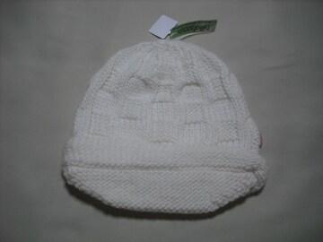 wb138 女 BILLABONG ビラボン つば付き ニット帽 白