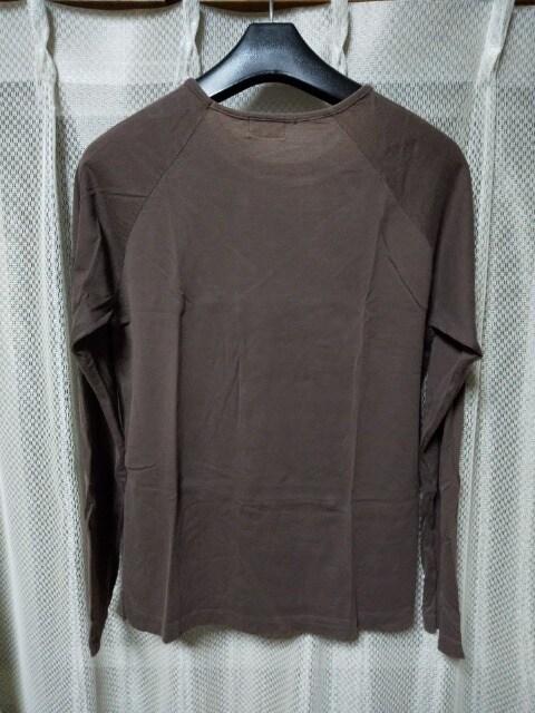 サンスペル 無地 長袖Tシャツ インナー カットソー Mサイズ S 茶 ブラウン 英国製 ロンT < ブランドの