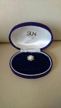 サン宝飾 パール指輪 ユーズド サイズ11号ぐらい K18