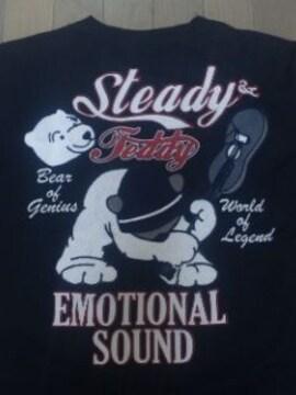 ☆訳アリ新品[ステディ&テディ]シロクマ&ギター刺繍 長袖Tシャツ スカジャン好きにも