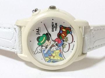 珍品【コラボ】JAL ミッキーマウス マーチが鳴る腕時計