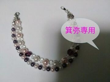 ピンク/紫パールハート付ネックレス/2連ブレス/ピアス◆ロリィタ姫系◆ラスト1点即決