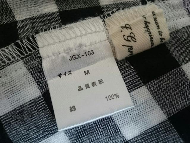美品☆チェック柄長袖シャツ★綿100%☆ブラック×ホワイト★ロールアップ☆ < 女性ファッションの