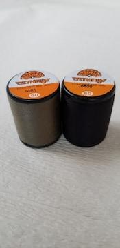 500m巻きミシン糸2本 <カーキ・黒>各1本 60番普通地用 ポリエステル100%