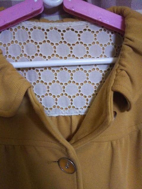 ★ワールド オシャレデザイン ロングコート サイズM 黄土色系★ < 女性ファッションの