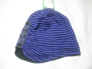 wb827 ROXY ロキシー 薄手 スウェットニット帽 ボーダー