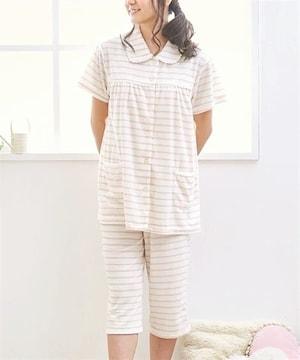 LLサイズお肌に優しいパイル素材!半袖!前開きand7分丈パンツ!パジャマ
