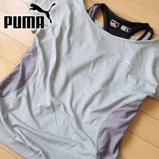 新品タグ付き PUMA Mサイズ プーマ カットソー タンクトップ  < ブランドの
