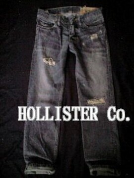 【Hollister】ホリスター Vintage Slim Straight デストロイジーンズ 28