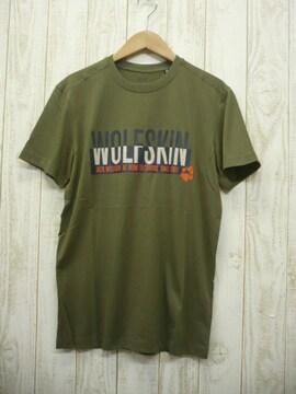 即決☆ジャックウルフスキン  ロゴ 半袖Tシャツ OLV/L  速乾 耐久