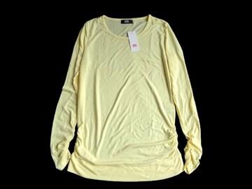 新品 ryuryu リュリュ ベルーナ 指ぬき ロンT 長袖 Tシャツ 黄色
