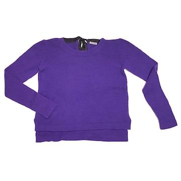 新品ミュウミュウmiu miuカシミア100% セーター 紫 #40