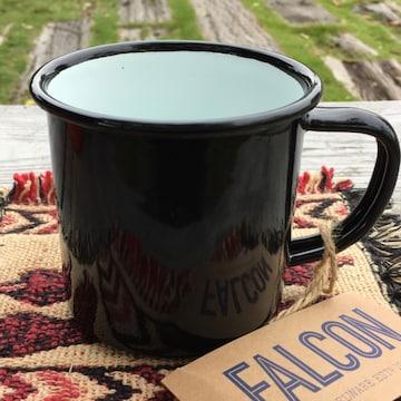 ファルコンFALCON英国伝統ホーローマグ350mlブラック マグカップ