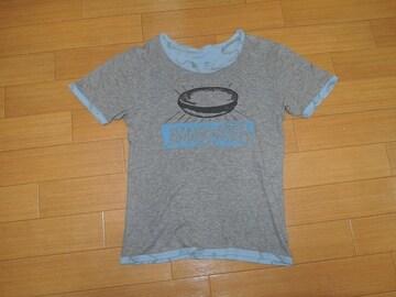 ヒステリックグラマーHYSTERIC GLAMOURリバーシブルTシャツS灰