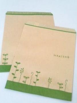 R50サイズ平袋★ハーブリーフ★A5が入る紙袋30枚