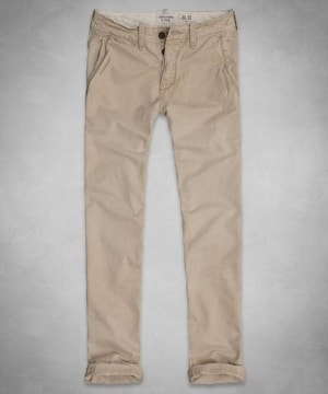 【Abercrombie&Fitch】Vintage Slim Straight チノパンツ 28/Khaki
