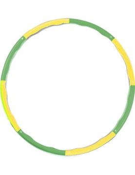 フラフープ 組み立て式 サイズ調整可 サイズフリー 緑×黄