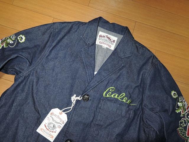 新品キャリーCALEEデニムコートジャケットM龍ベトジャン刺繍 < ブランドの